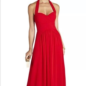 NWT red Selene gown by BCBG